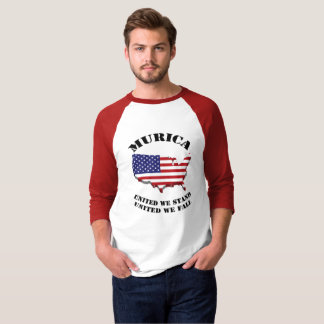 Murica United We Stand United We Fall T-Shirt