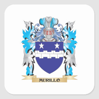 Murillo Coat of Arms - Family Crest Square Sticker