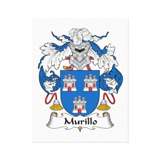 Murillo Family Crest Stretched Canvas Print