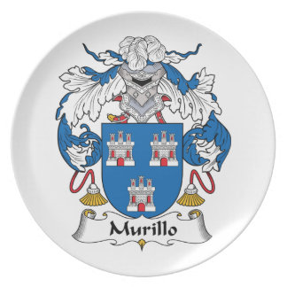 Murillo Family Crest Party Plate