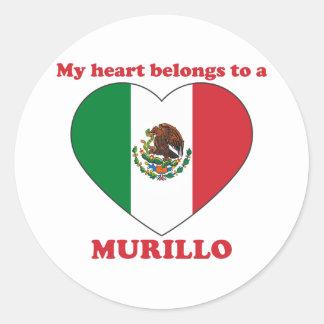 Murillo Round Sticker