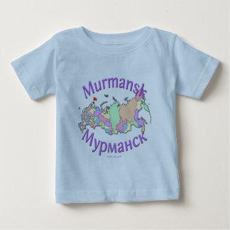 Murmansk Russia Map Baby T-Shirt