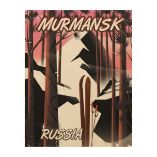 Murmansk Russian travel poster