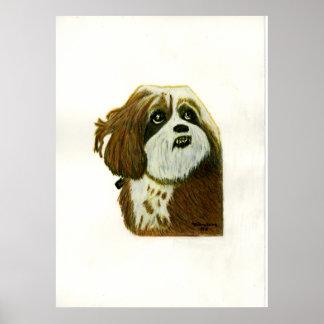 Murphy 1 Dog jGibney The MUSEUM Zazzle Poster