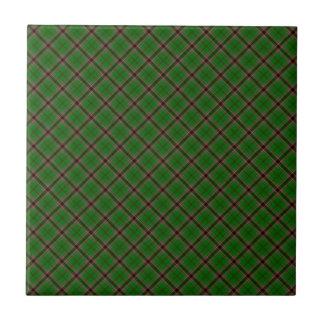 Murphy Clan Tartan Irish Designed Print Small Square Tile