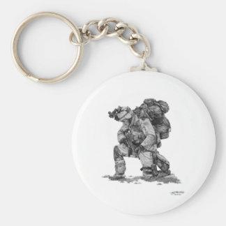 Murphy Elliott-Praying Soldier Basic Round Button Key Ring