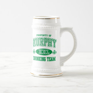 Murphy Irish Drinking Team Beer Stein