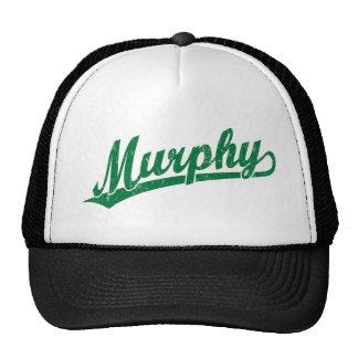 Murphy script logo in green cap