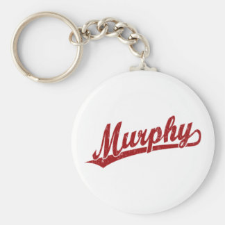 Murphy script logo in red key ring