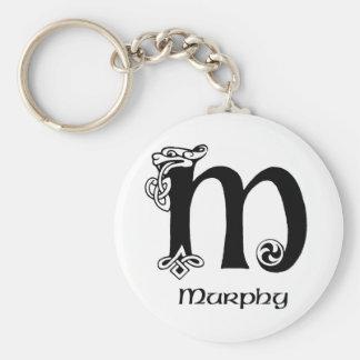 Murphy Surname Basic Round Button Key Ring