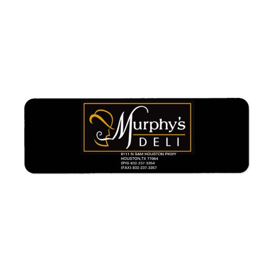 MURPHY'S DELI PROMO STICKER RETURN ADDRESS LABEL