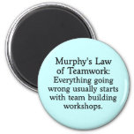 Murphy's Law for Teamwork (2) 6 Cm Round Magnet