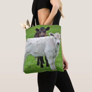 Murray Grey Calves (Typical Rural Scene Of King) Tote Bag