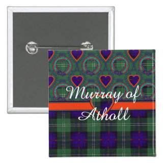 Murray of Atholl clan Plaid Scottish kilt tartan 15 Cm Square Badge