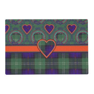 Murray of Atholl clan Plaid Scottish kilt tartan Laminated Place Mat