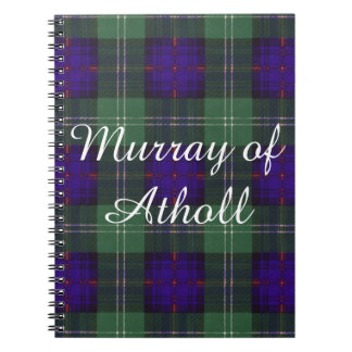 Murray of Atholl clan Plaid Scottish kilt tartan Notebook