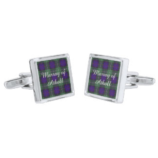 Murray of Atholl clan Plaid Scottish kilt tartan Silver Finish Cufflinks