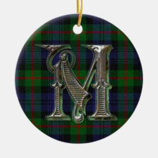 Murray Plaid Monogram ornament