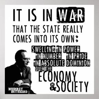 Murray Rothbard Anti-War Anti-State Libertarian Poster