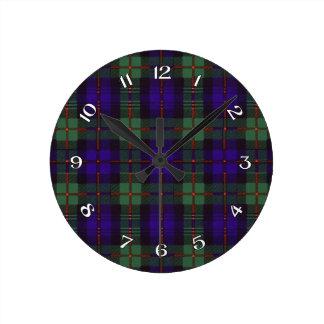 Murray Scottish Tartan Round Clock