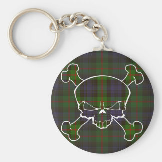 Murray Tartan Skull No Banner Key Ring