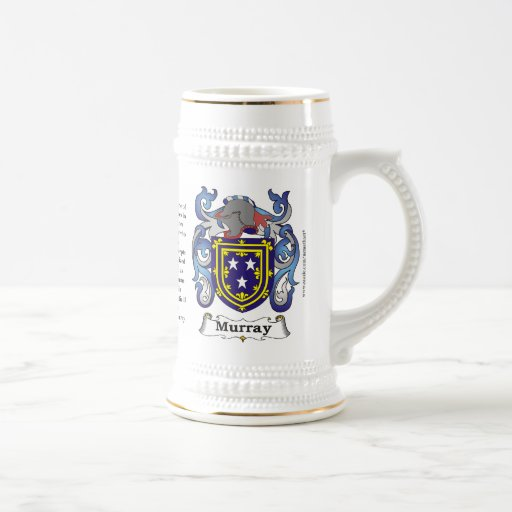 Murray, the Origin, the Meaning and the Crest Coffee Mugs