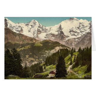 Murren, Grutschalp, I, Eiger, Monch and Jungfrau, Card