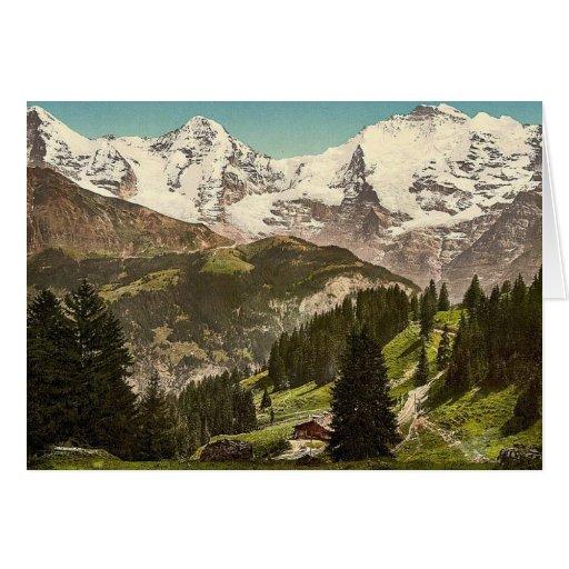 Murren, Grutschalp, I, Eiger, Monch and Jungfrau, Card
