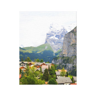 Murren in Switzerland Canvas Print