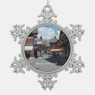 Murren, Switzerland Snowflake Ornament 1
