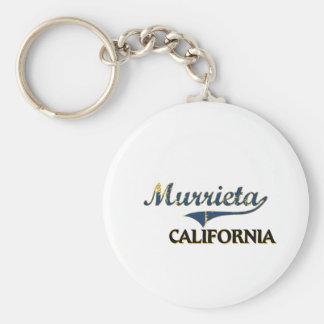 Murrieta California City Classic Basic Round Button Key Ring