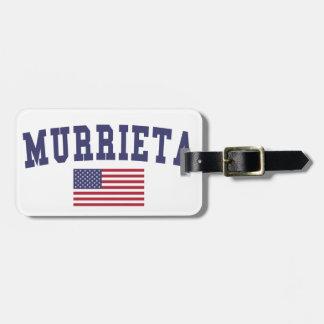 Murrieta US Flag Travel Bag Tag