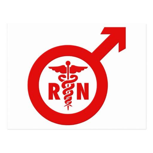 Murse Male Nurse Symbol Post Cards