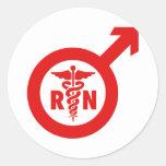 Murse Male Nurse Symbol Stickers