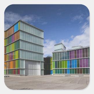 MUSAC, contemporary art museum 2 Square Sticker