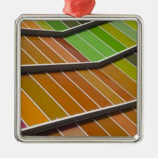 MUSAC, contemporary art museum 3 Silver-Colored Square Decoration