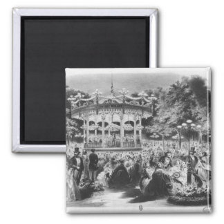 Musard concert at the Champs-Elysees, 1865 Square Magnet