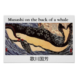 Musashi on the back of to whale poster
