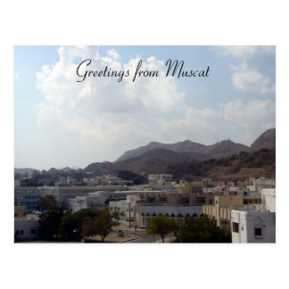 muscat greetings postcard