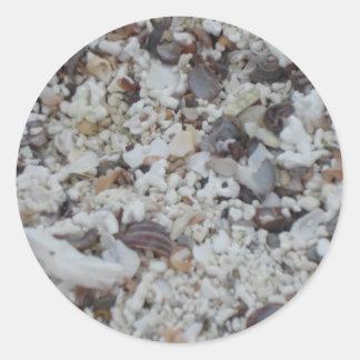Muscheln von Strand Round Sticker
