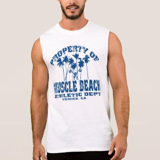 MUSCLE BEACH GEAR BY EKLEKTIX SLEEVELESS SHIRT