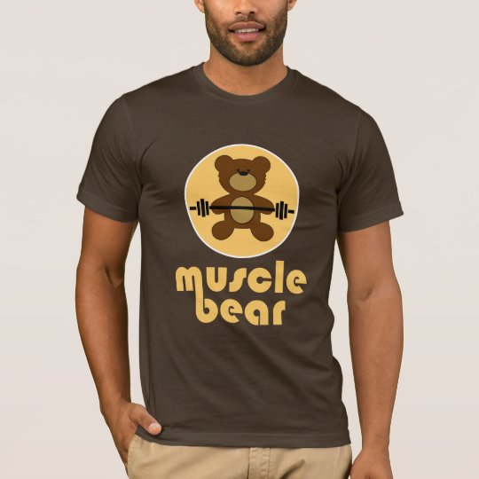 Muscle Bear Teddy Bear Cream T-Shirt