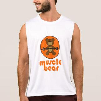 Muscle Bear Teddy Bear Orange Tank Top