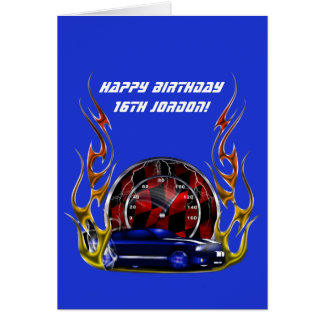 MUSCLE CAR AND RACING BIRTHDAY CARD