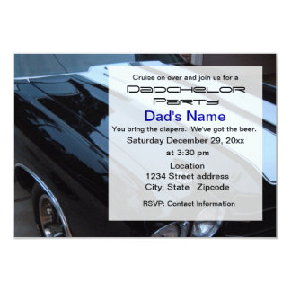 Muscle Car Dadchelor Party Invitation