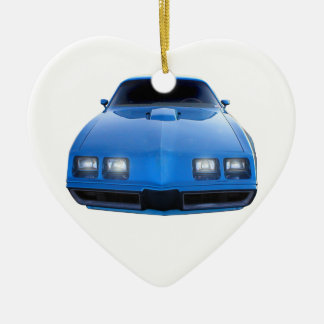 Muscle Car Ceramic Heart Decoration