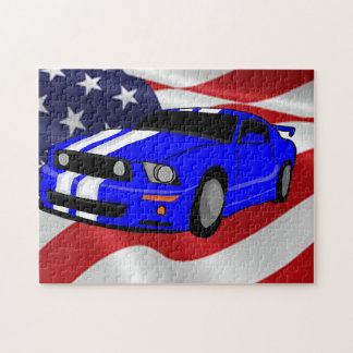 Muscle car design jigsaw puzzle