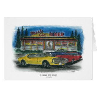 MUSCLE CAR DINER card