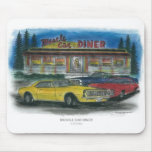 MUSCLE CAR DINER mouse pad