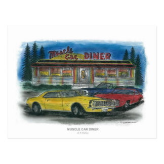 MUSCLE CAR DINER postcard